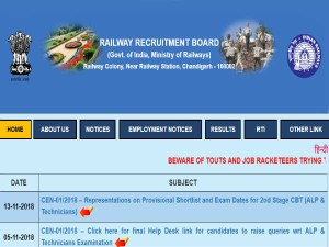 Rrb Group C Alp Technician Revised Result 2018 Check Official Website