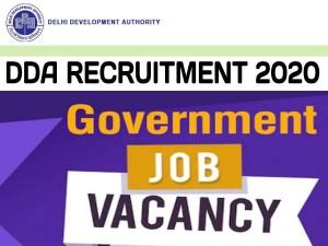 Dda Recruitment 2020 Apply Online For 629 Posts At Dda Org In