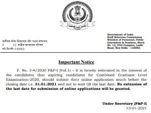 Ssc Cgl 2021 Notice Registration Dates