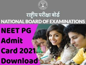Neet Pg Admit Card 2021 Download Direct Link