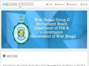 WB Group D Result 2017: पश्चिम बंगाल ग्रुप डी भर्ती परीक्षा 2017 के नतीजे घोषित